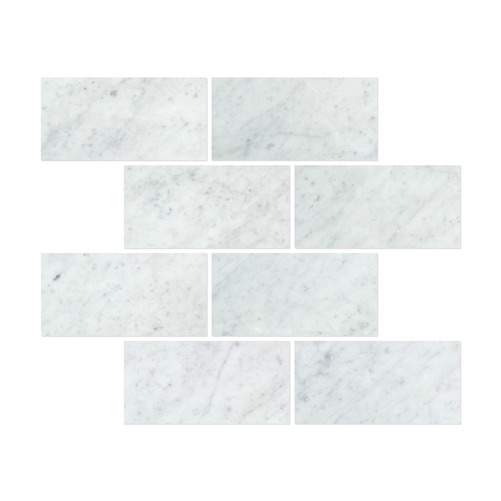 12 x 24 Honed Bianco Carrara Marble Tile - Tilephile