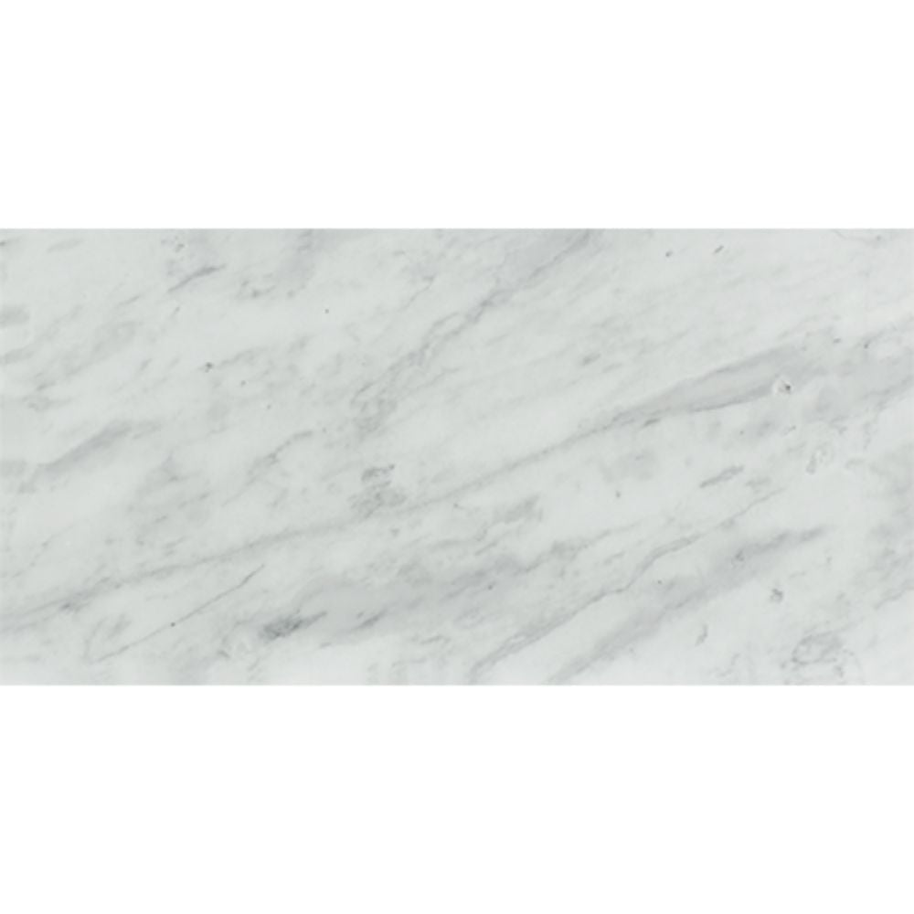 12 x 24 Honed Bianco Mare Marble Tile Sample - Tilephile