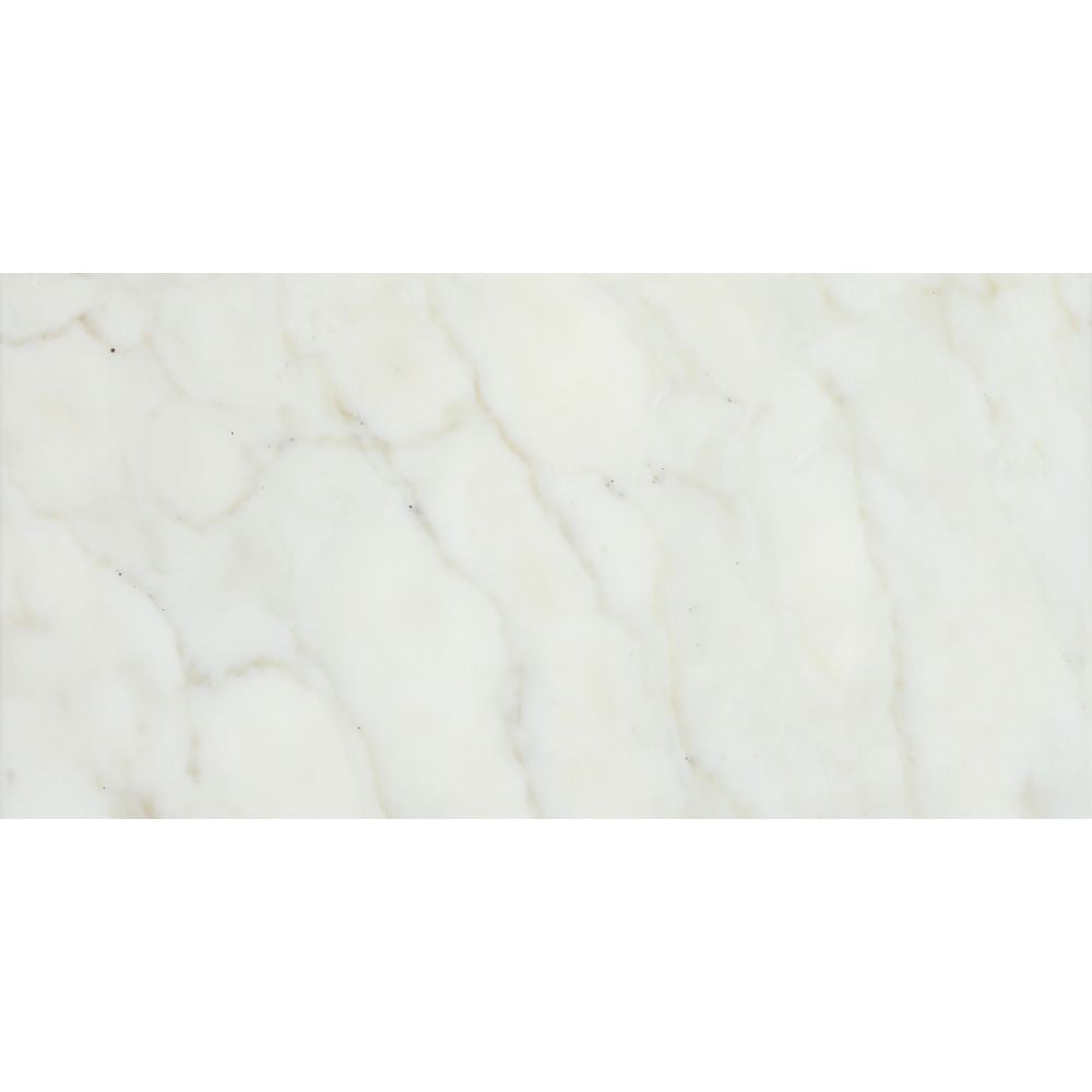 12 x 24 Honed Calacatta Gold Marble Tile Sample - Tilephile