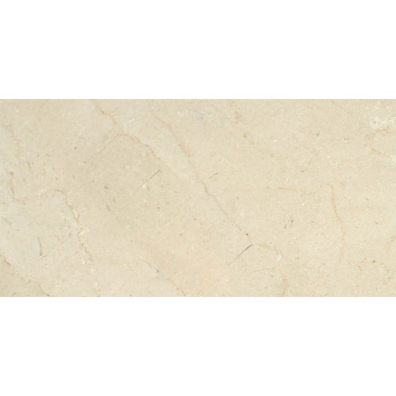 12 x 24 Honed Crema Marfil Marble Tile - Premium - Tilephile