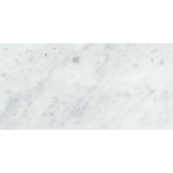 12 x 24 Polished Bianco Carrara Marble Tile - Tilephile