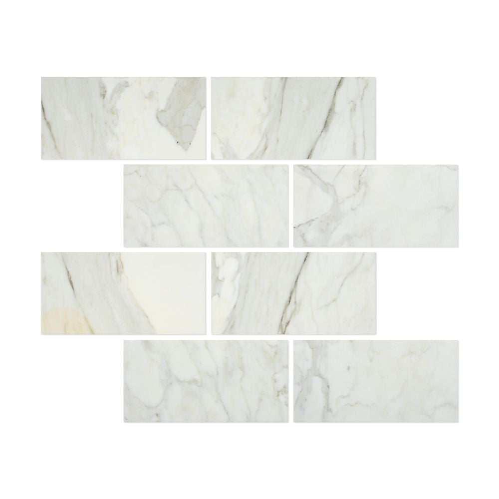 12 x 24 Polished Calacatta Gold Marble Tile - Tilephile