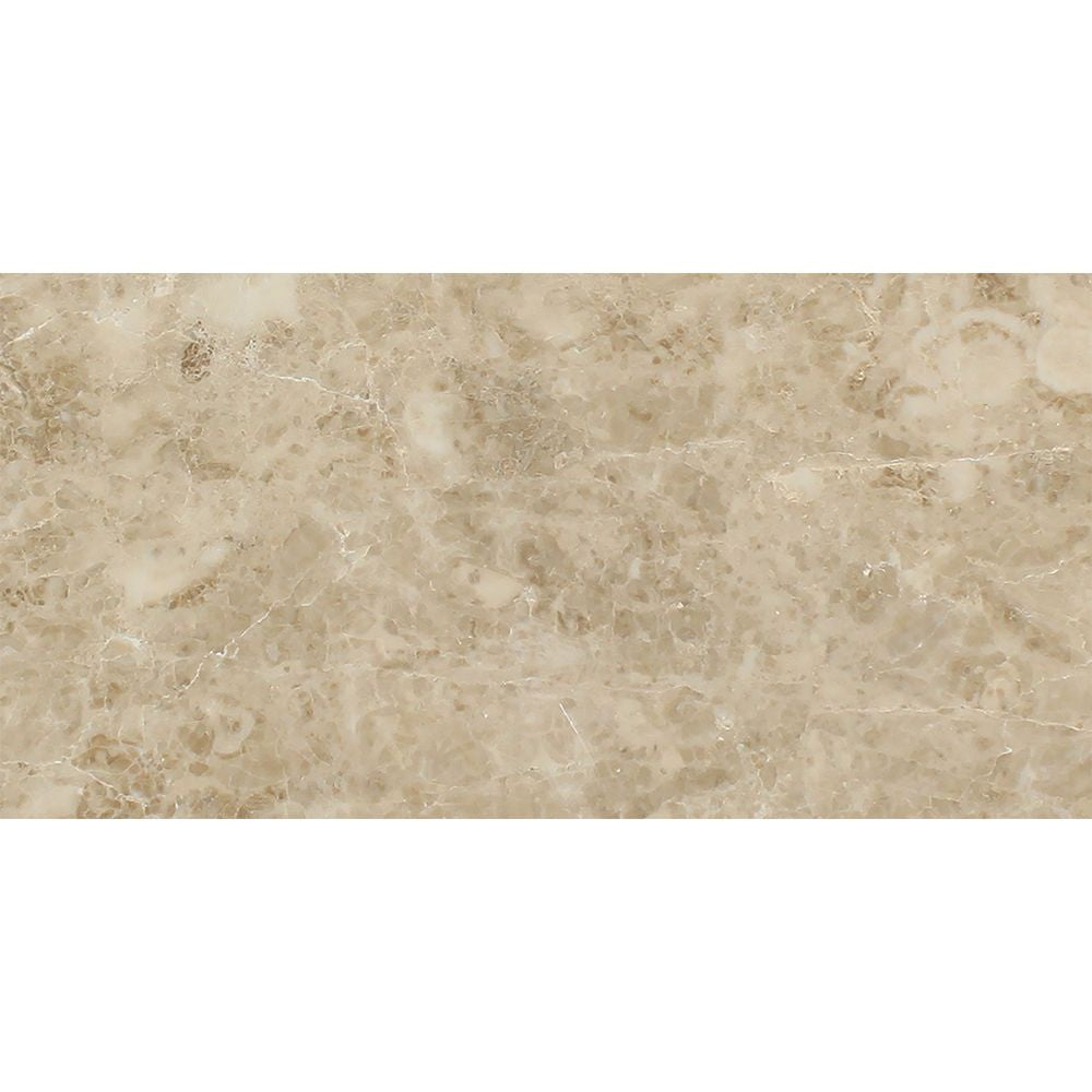 12 x 24 Polished Cappuccino Marble Tile Sample