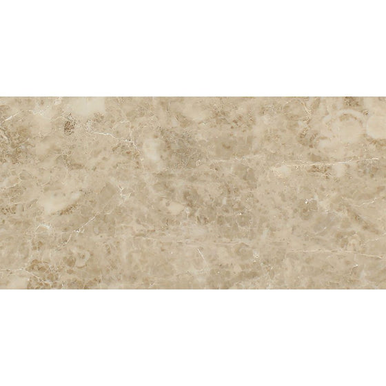 12 x 24 Polished Cappuccino Marble Tile - Tilephile