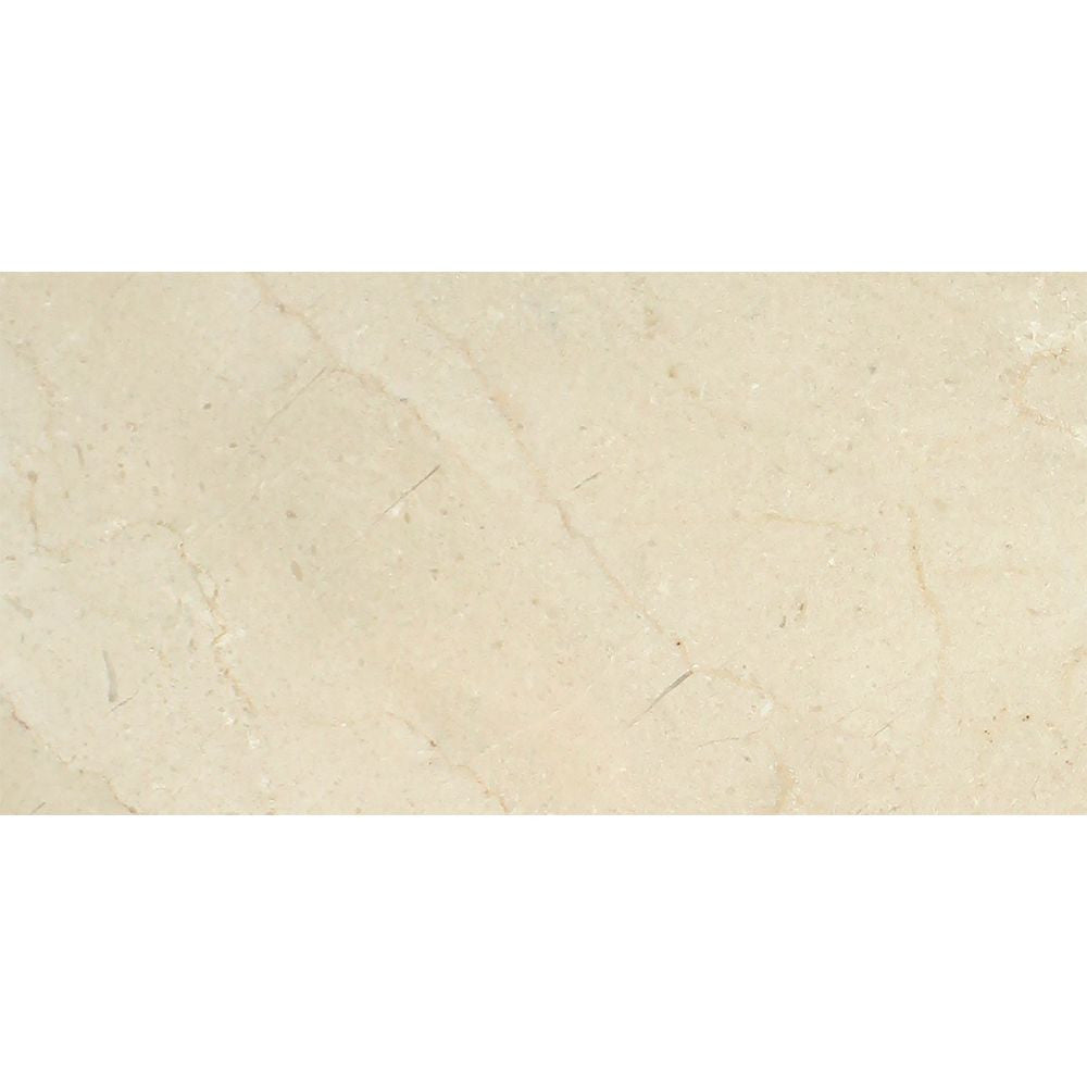 12 x 24 Polished Crema Marfil Marble Tile - Standard Sample - Tilephile