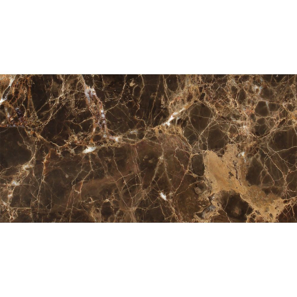12 x 24 Polished Emperador Dark Marble Tile Sample