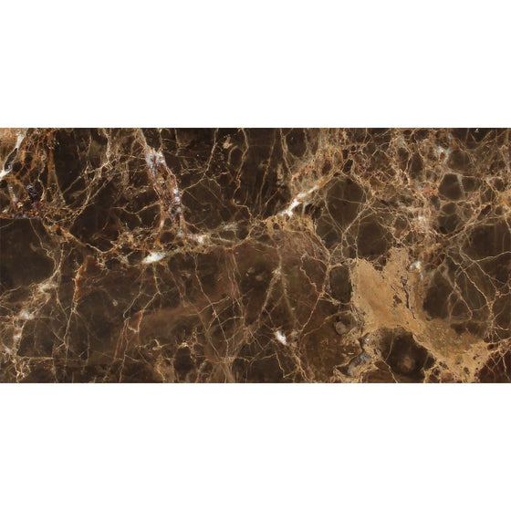 12 x 24 Polished Emperador Dark Marble Tile