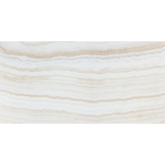 12 x 24 Polished White Onyx Tile - (Vein-Cut) - Tilephile