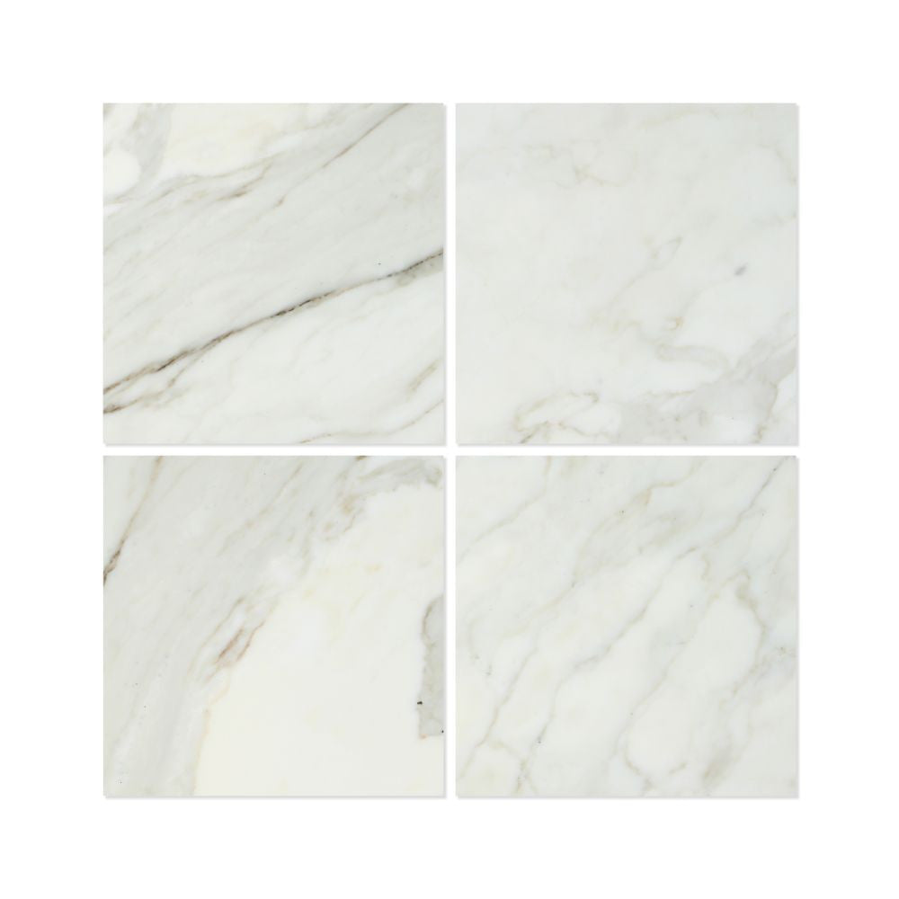 18 x 18 Honed Calacatta Gold Marble Tile - Tilephile