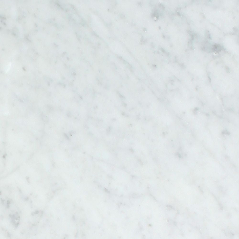 18 x 18 Polished Bianco Carrara Marble Tile Sample - Tilephile