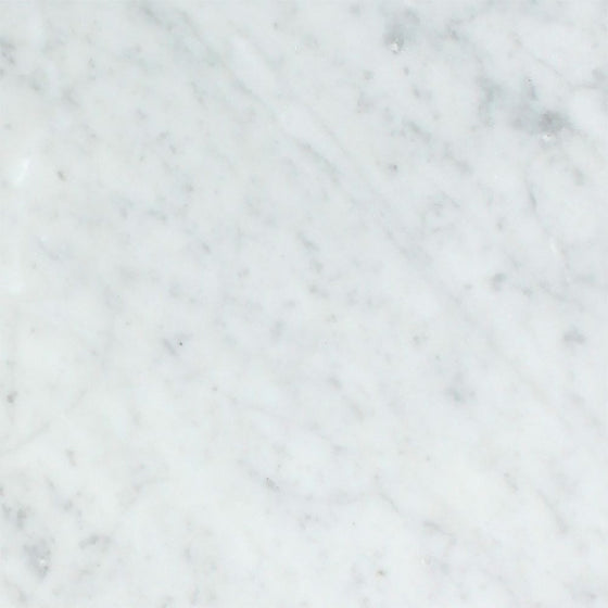 18 x 18 Polished Bianco Carrara Marble Tile - Tilephile