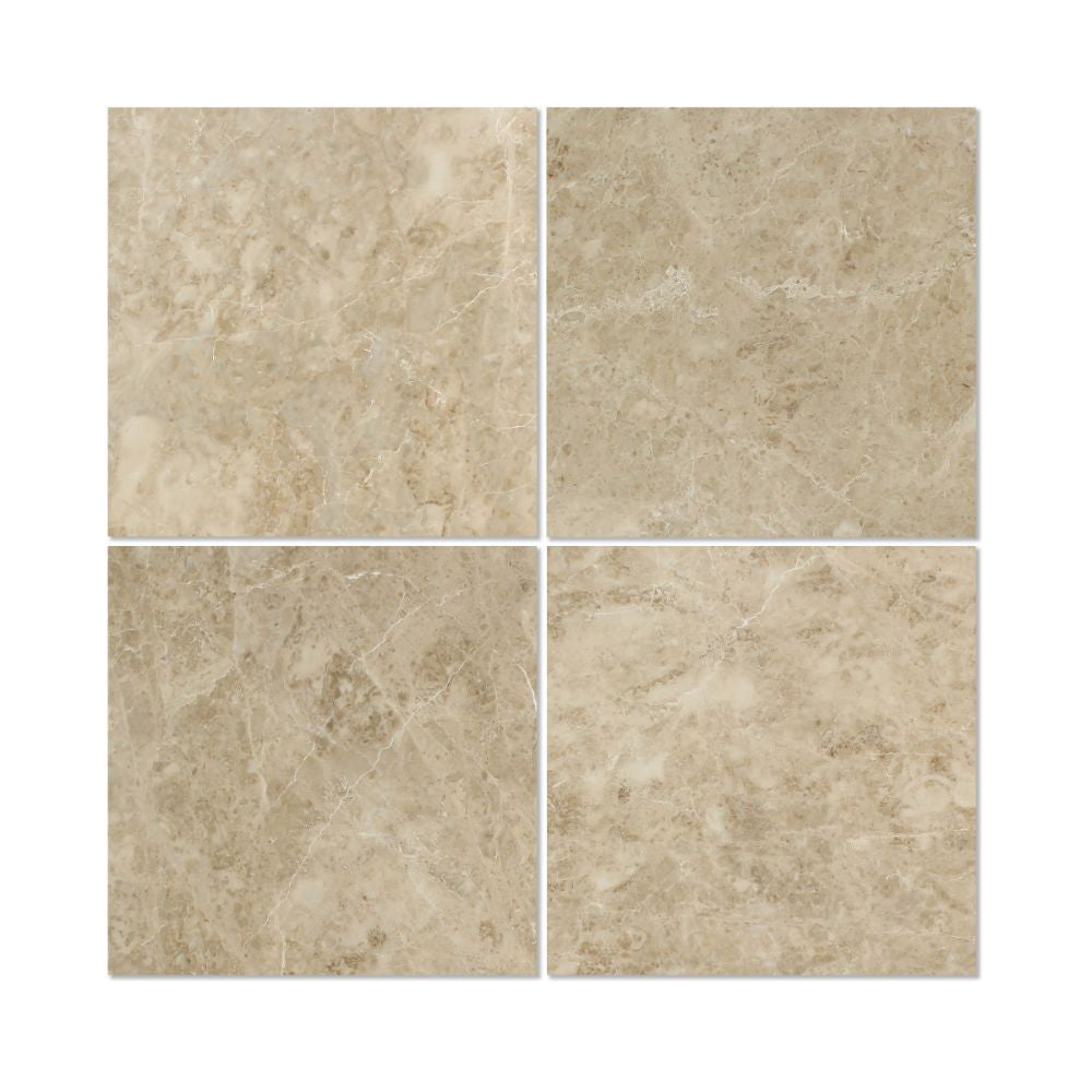 18 X 18 Polished Cappuccino Marble Tile Tilephile