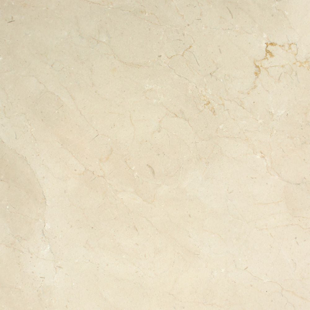 18 x 18 Polished Crema Marfil Marble Tile - Standard Sample
