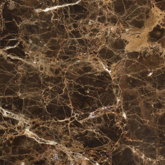 18 x 18 Polished Emperador Dark Marble Tile - Tilephile