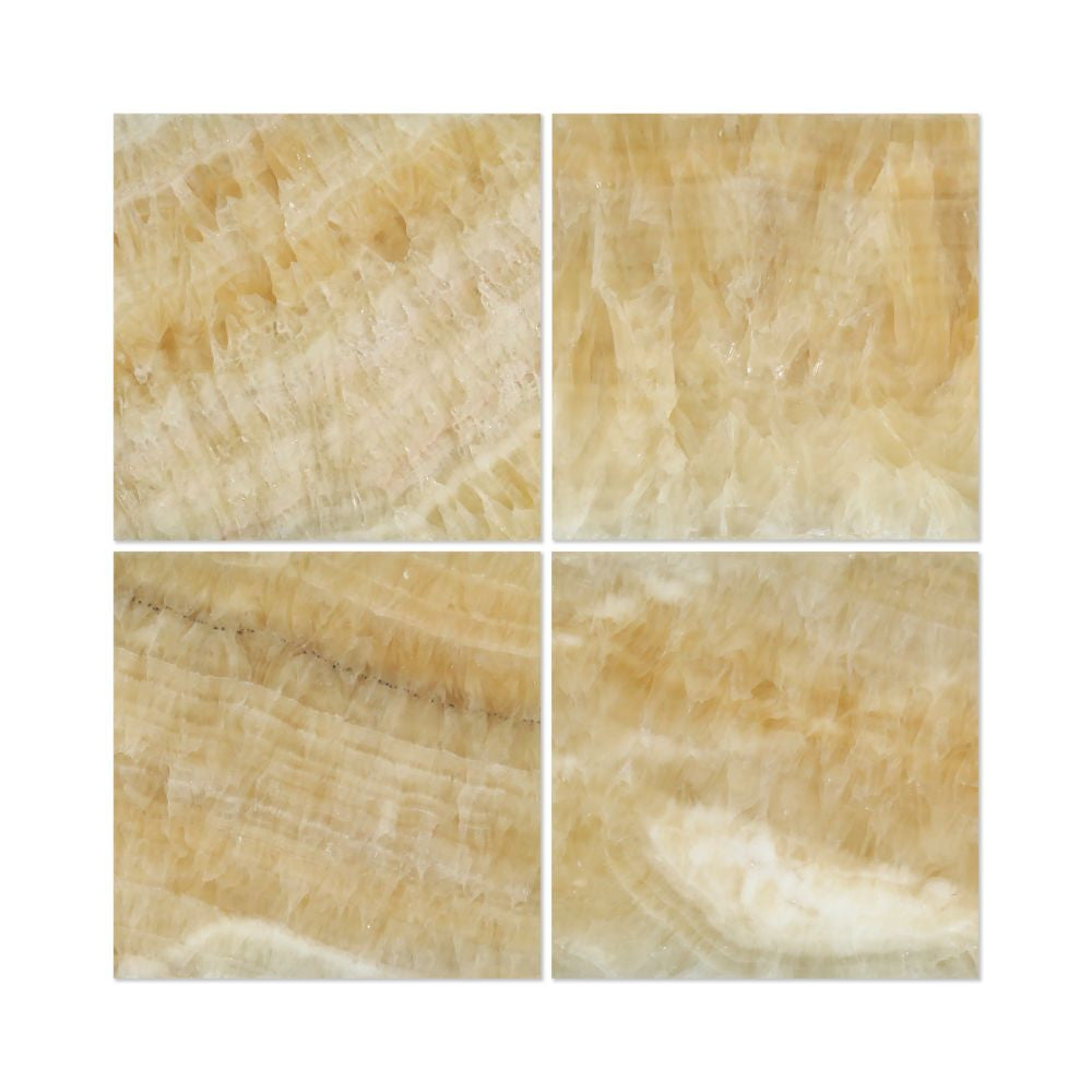 Exceptionnel 18 X 18 Polished Honey Onyx Tile