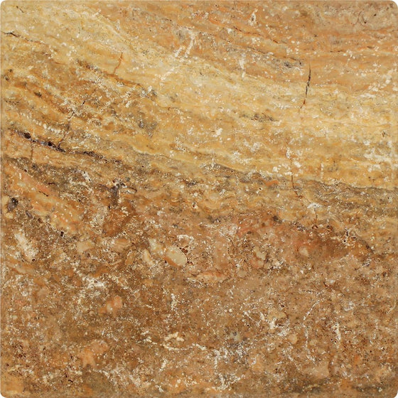 18 x 18 Tumbled Scabos Travertine Tile - Tilephile