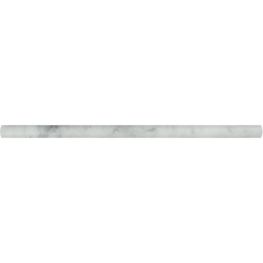 1/2 x 12 Honed Bianco Mare Marble Pencil Liner Sample