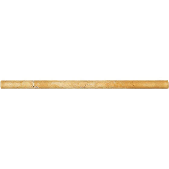 1/2 x 12 Honed Gold Travertine Pencil Liner