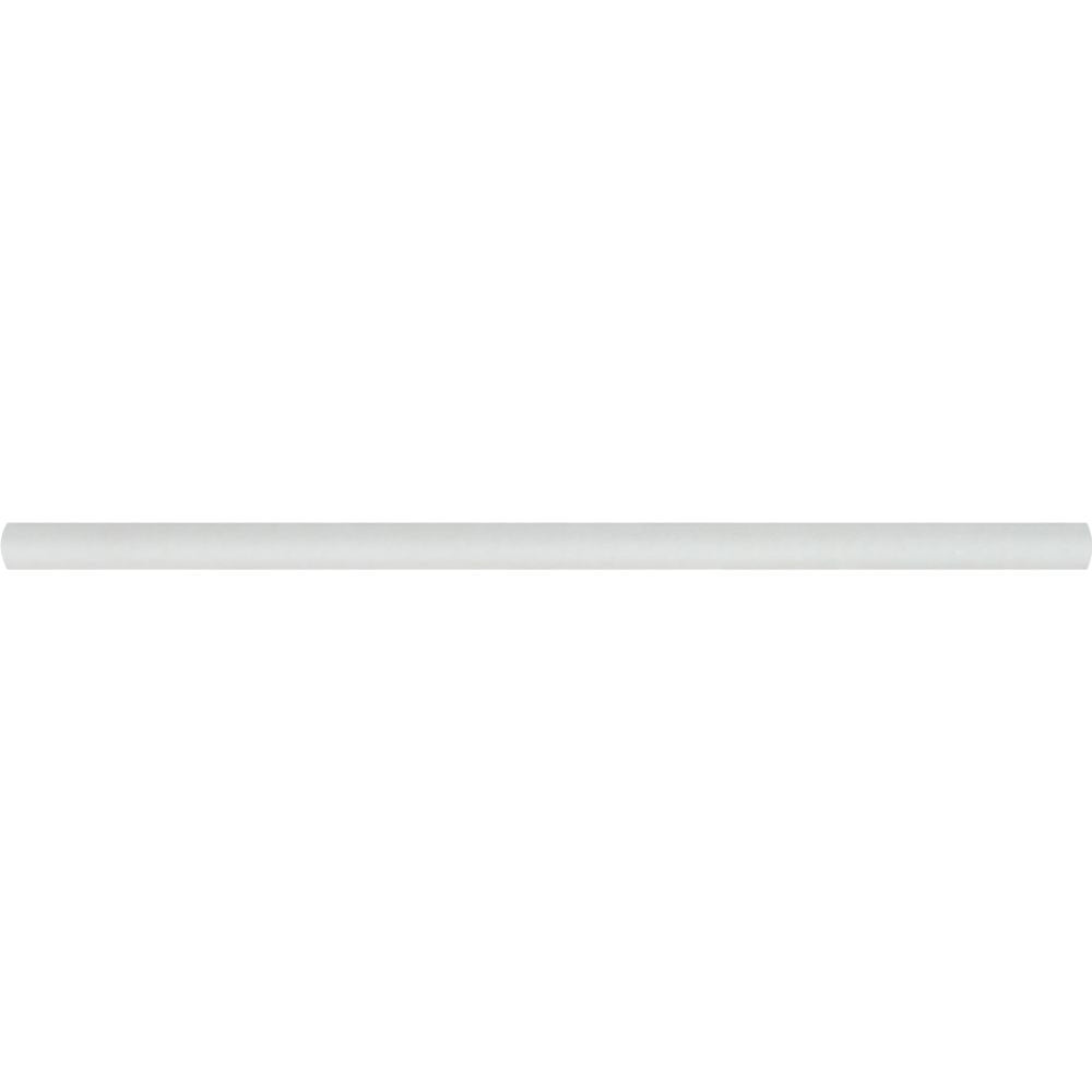1/2 x 12 Honed Thassos White Marble Pencil Liner - Tilephile