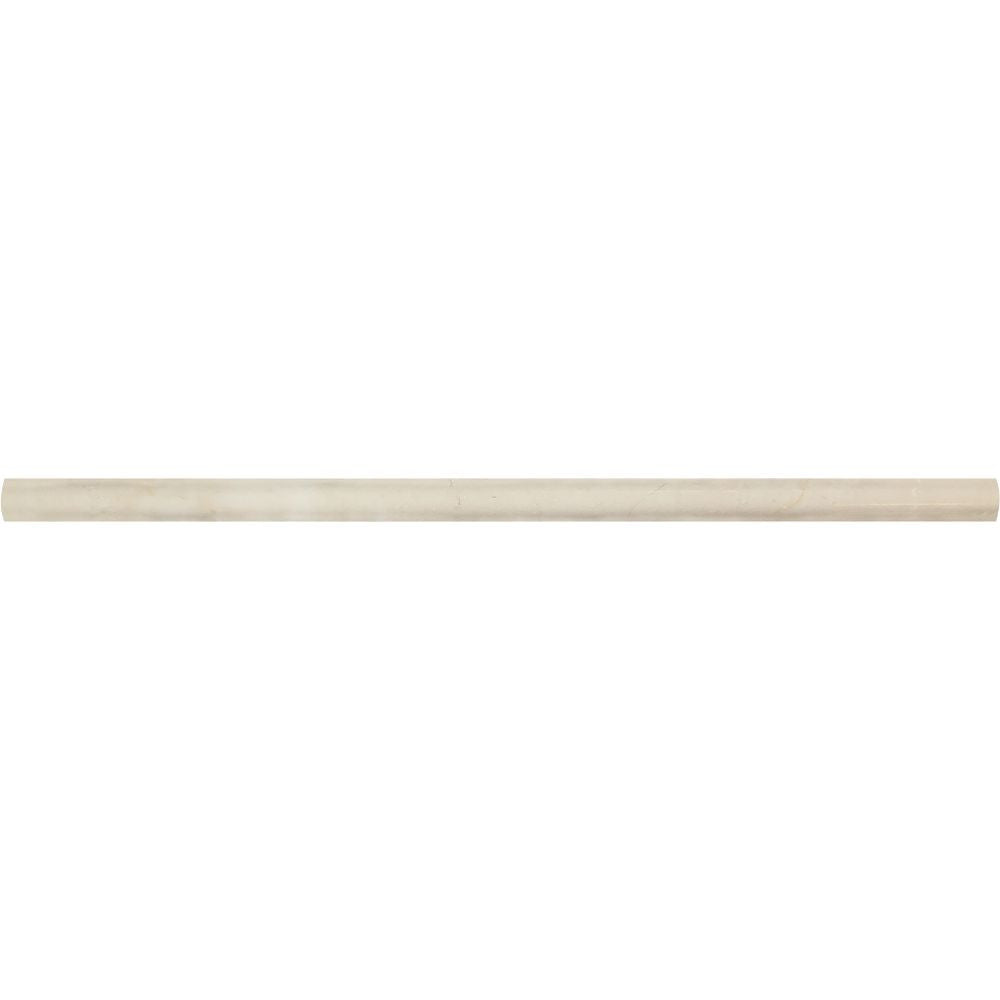1/2 x 12 Polished Crema Marfil Marble Pencil Liner - Tilephile