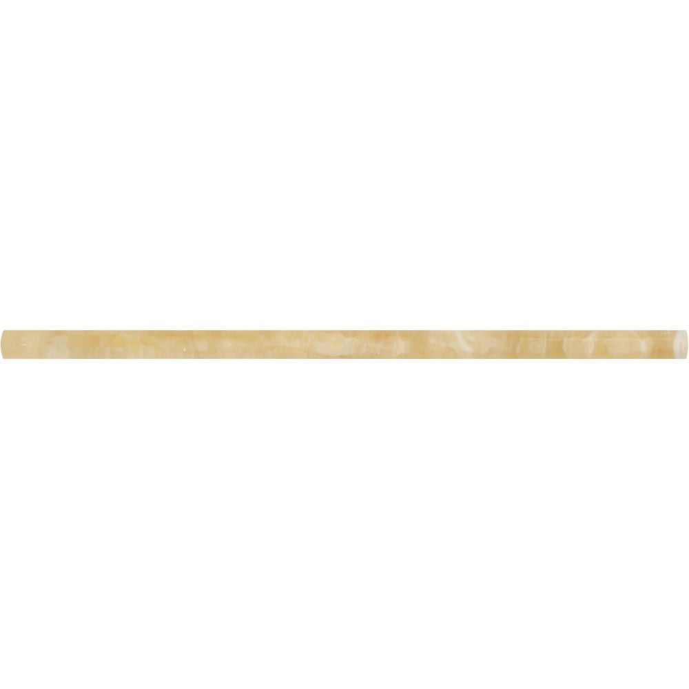 1/2 x 12 Polished Honey Onyx Pencil Liner Sample