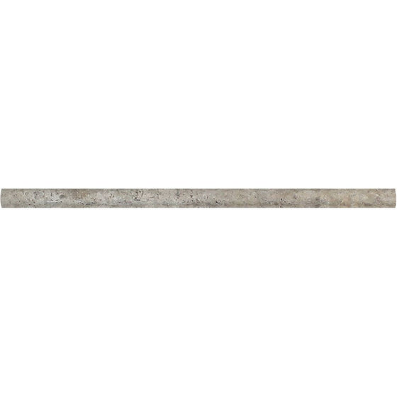 1/2 x 12 Tumbled Silver Travertine Pencil Liner - Tilephile