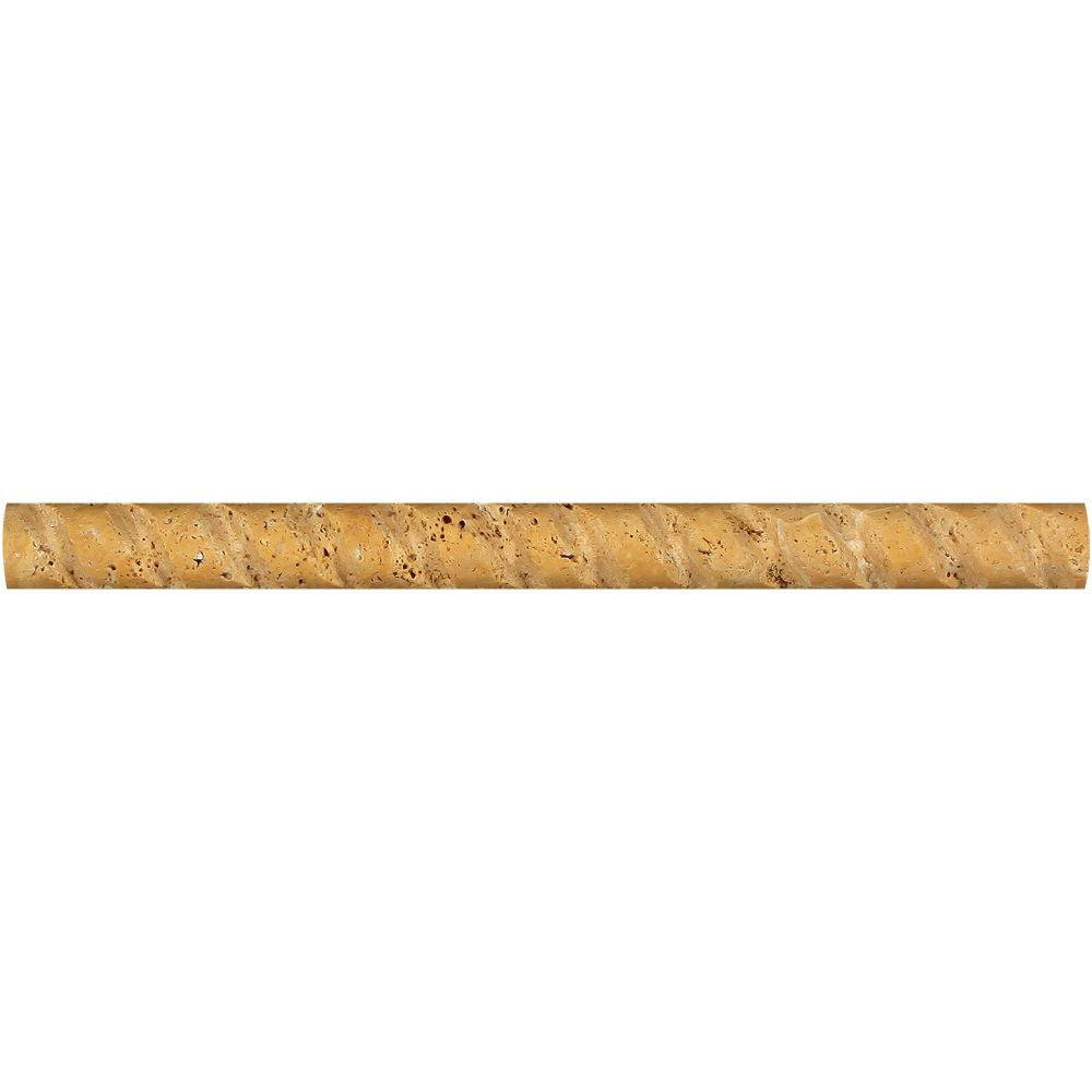 1 x 12 Honed Gold Travertine Path Liner Sample - Tilephile
