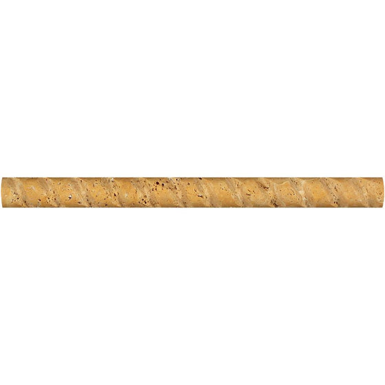 1 x 12 Honed Gold Travertine Path Liner - Tilephile