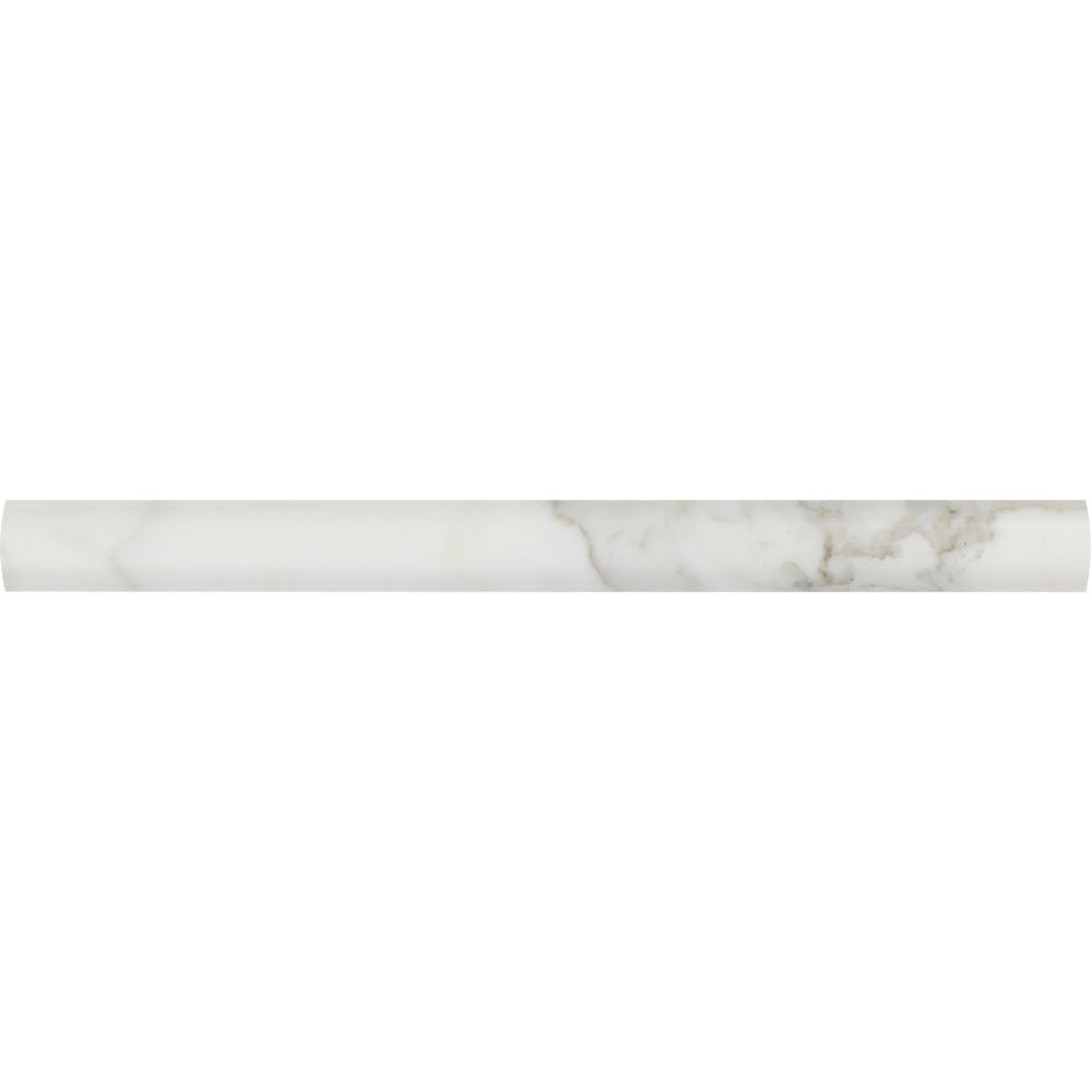1 x 12 Polished Calacatta Gold Marble Quarter Round Trim - Tilephile