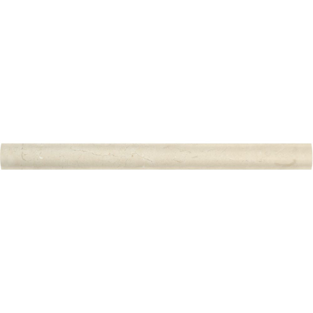1 x 12 Polished Crema Marfil Marble Quarter Round Trim - Tilephile