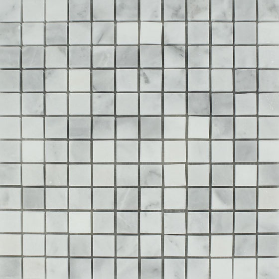 1 x 1 Honed Bianco Mare Marble Mosaic Tile - Tilephile