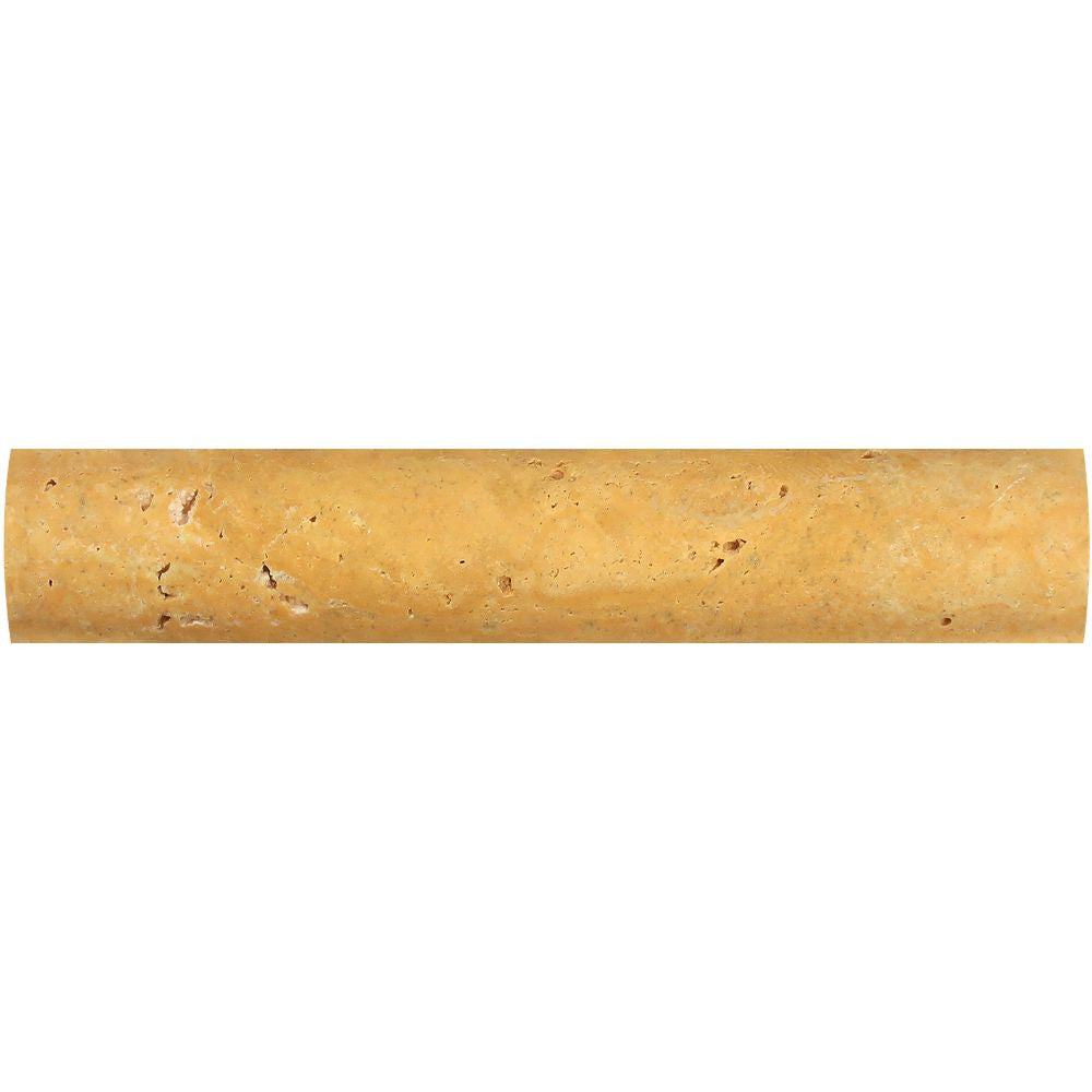 1 x 6 Honed Gold Travertine Quarter Round Trim - Tilephile