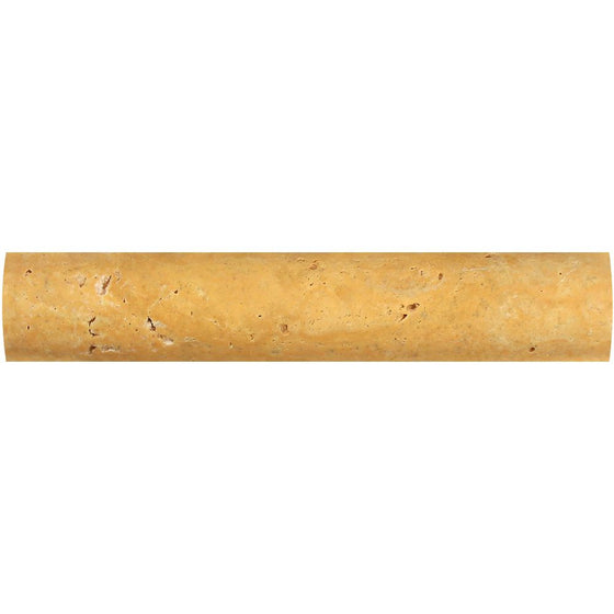 1 x 6 Honed Gold Travertine Quarter Round Trim