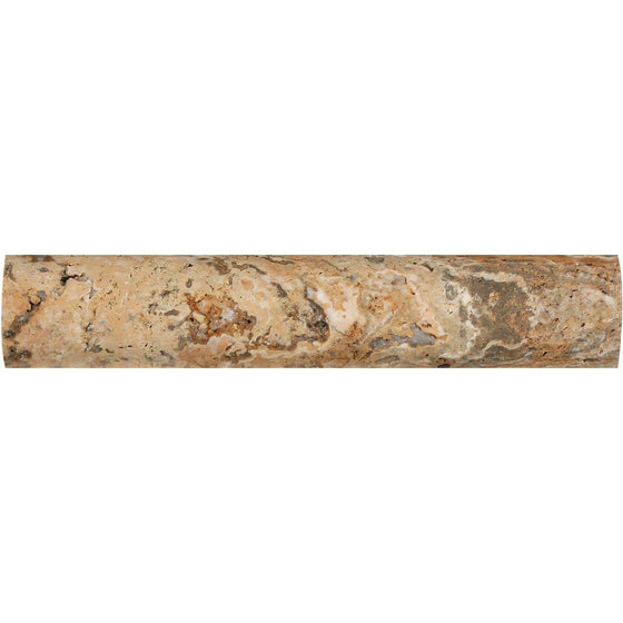 1 x 6 Honed Scabos Travertine Quarter Round Trim