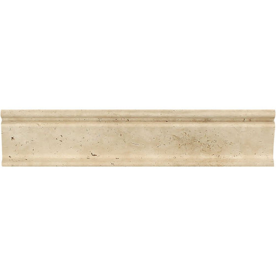 2 1/2 x 12 Honed Ivory Travertine Crown Molding