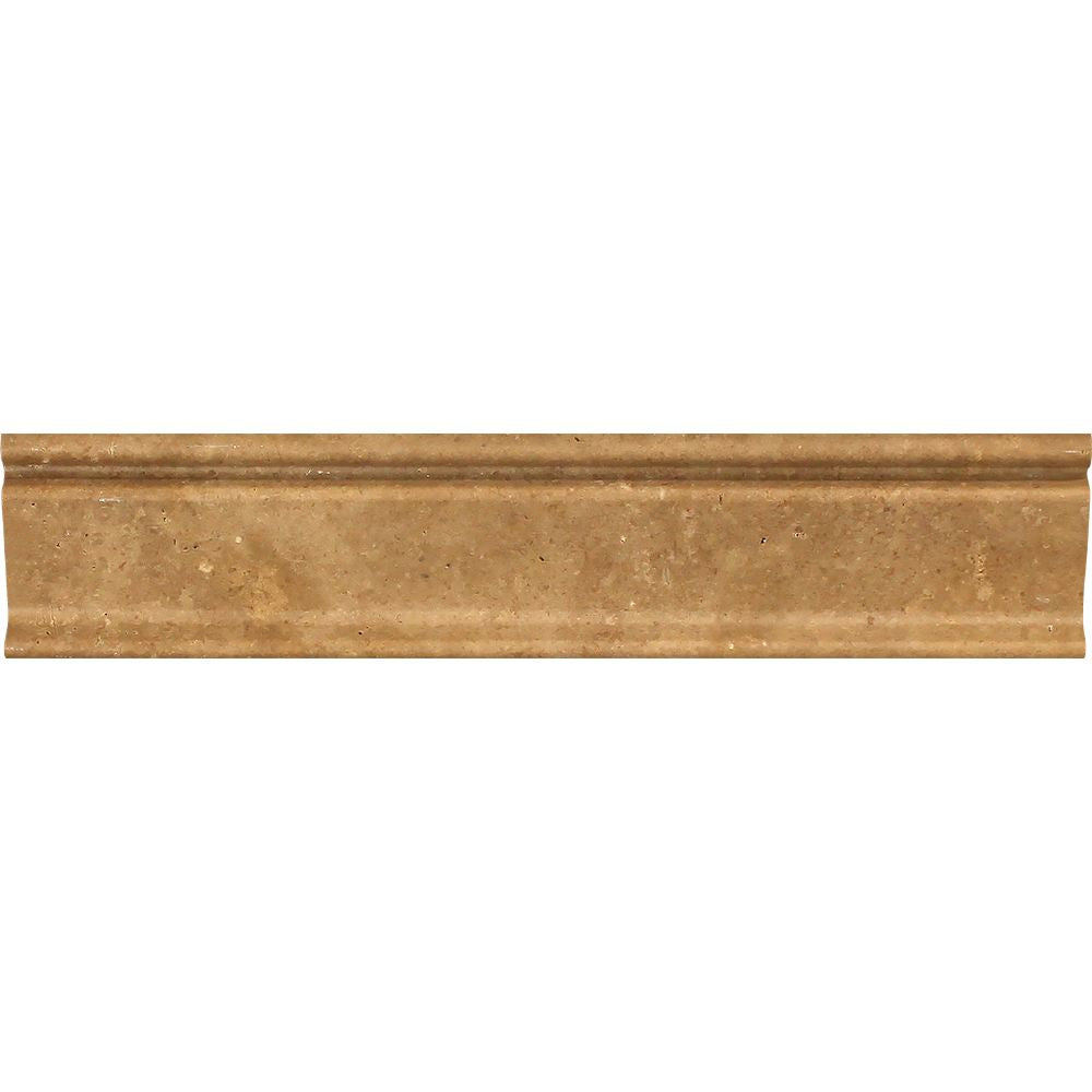 2 1/2 x 12 Honed Noce Travertine Crown Molding Sample - Tilephile