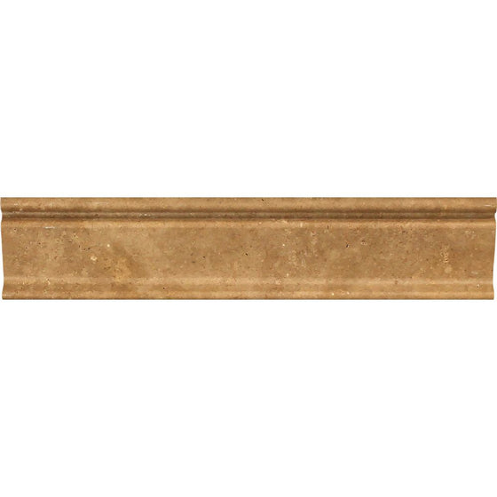 2 1/2 x 12 Honed Noce Travertine Crown Molding