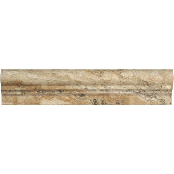 2 1/2 x 12 Honed Philadelphia Travertine Double-Step Chair Rail Trim - Tilephile
