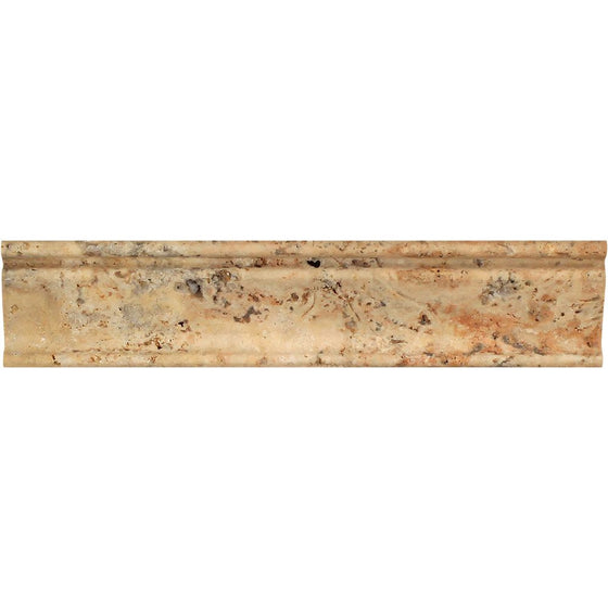 2 1/2 x 12 Honed Scabos Travertine Crown Molding