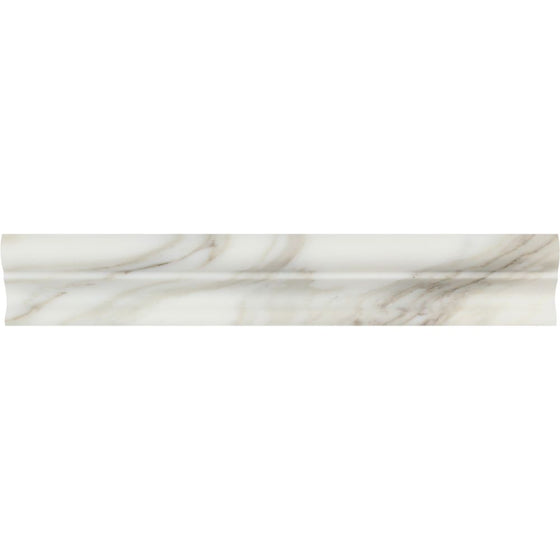 2 x 12 Polished Calacatta Gold Marble Crown Molding - Tilephile