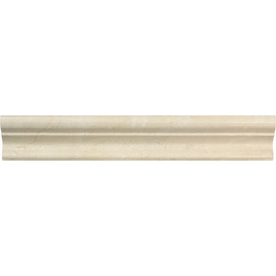 2 x 12 Polished Crema Marfil Marble Crown Molding - Tilephile