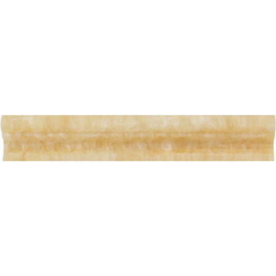 2 x 12 Polished Honey Onyx Crown Molding