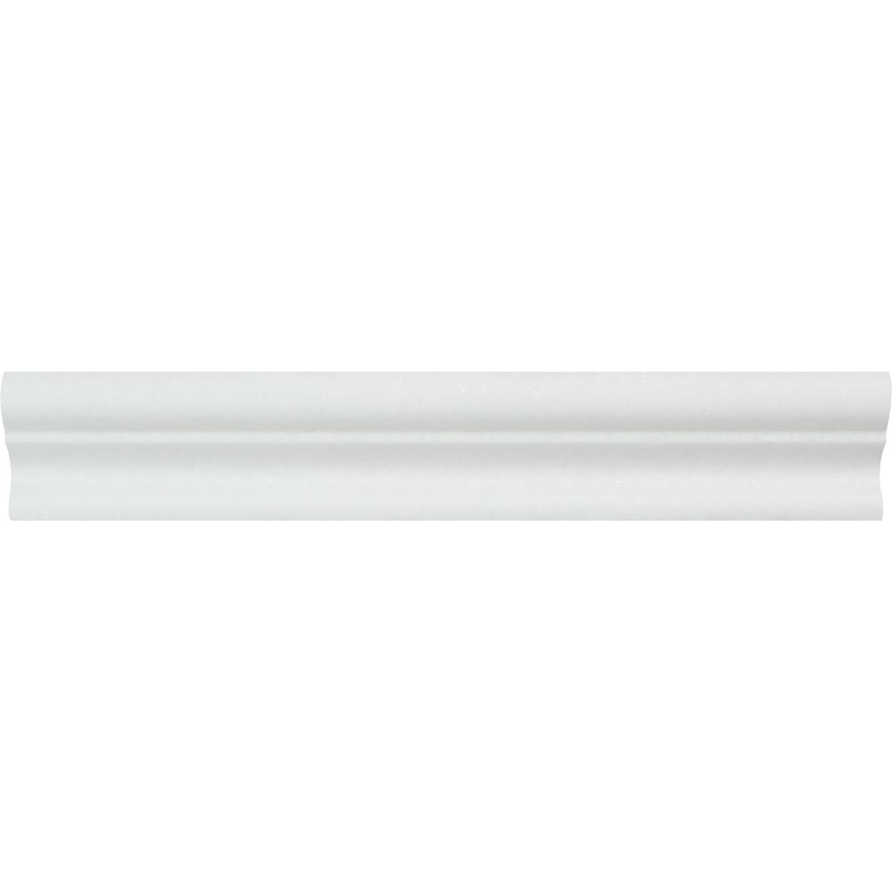 2 x 12 Polished Thassos White Marble Crown Molding Sample - Tilephile
