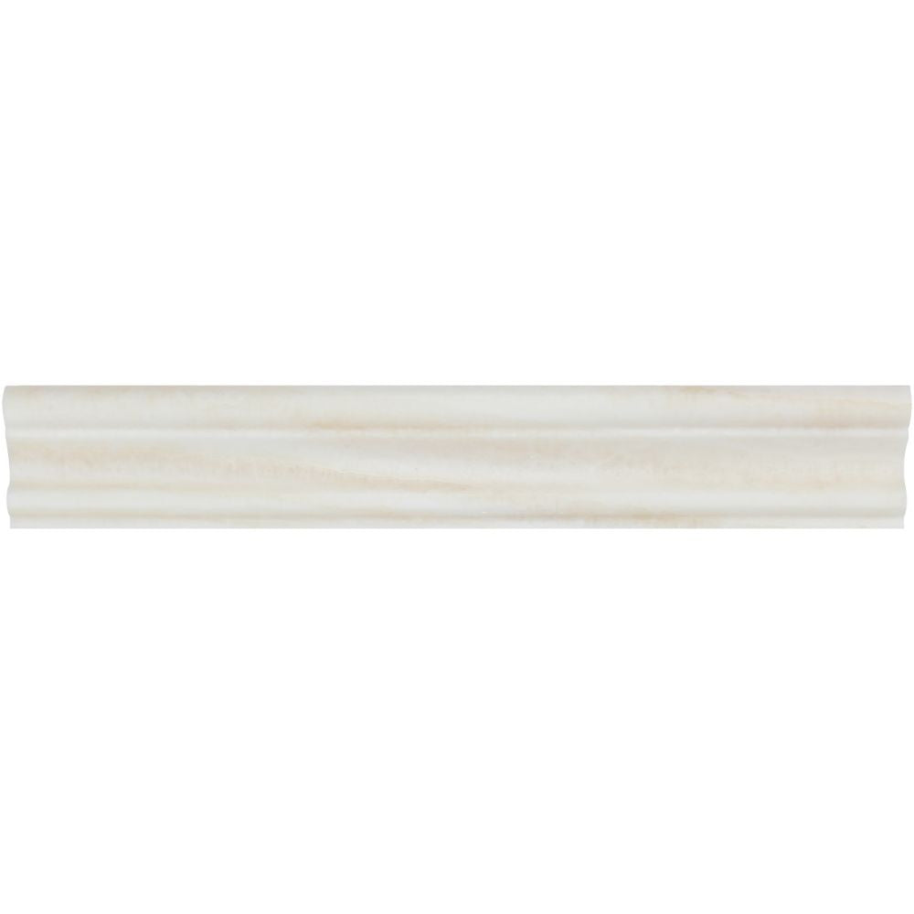 2 X 12 Polished White Onyx Single Step Chair Rail Trim