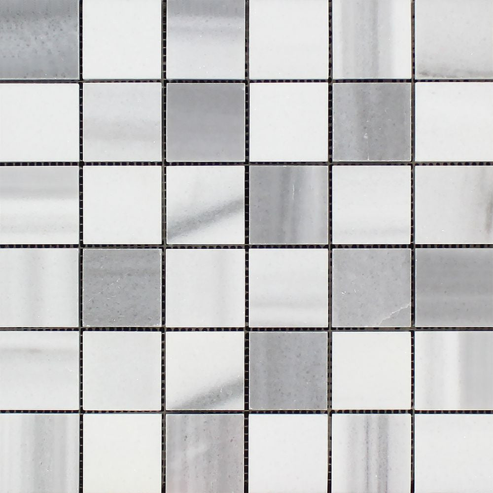2 x 2 Polished Mink (Marmara) Marble Mosaic Tile (Cross-Cut) Sample - Tilephile
