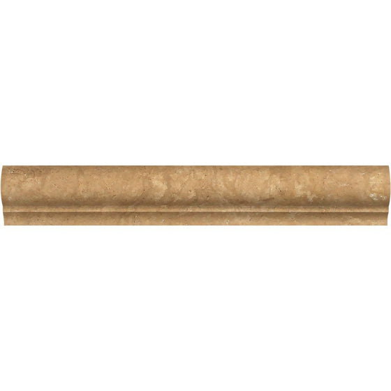 2 x 3 x 12 Honed Noce Travertine Corner Ogee Trim - Tilephile