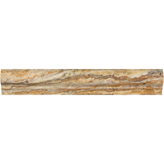 2 x 3 x 12 Honed Scabos Travertine Corner Ogee Trim