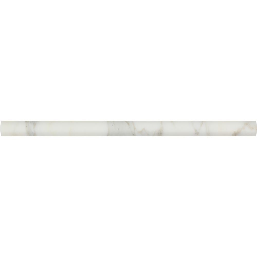 3/4 x 12 Honed Calacatta Gold Marble Bullnose Liner Sample - Tilephile