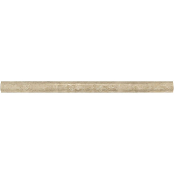 3/4 x 12 Polished Cappuccino Marble Bullnose Liner - Tilephile