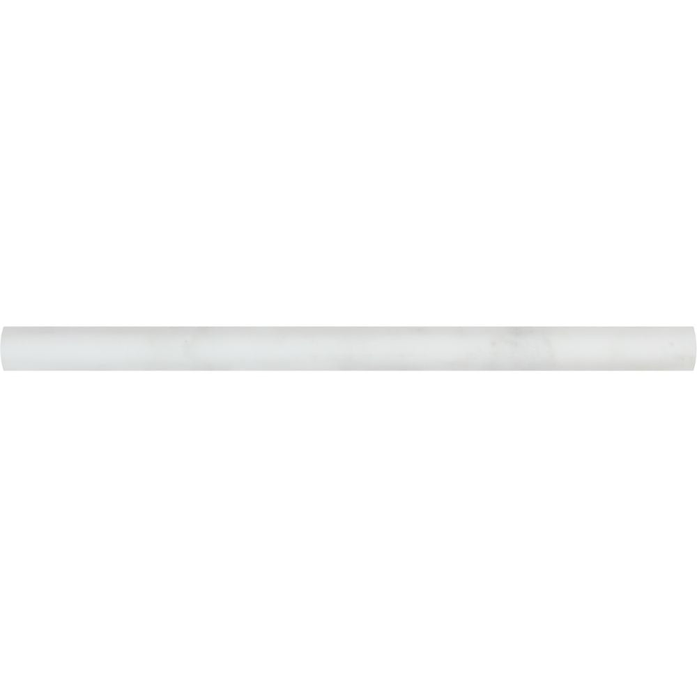 3/4 x 12 Polished Oriental White Marble Bullnose Liner - Tilephile